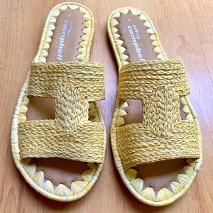 JEFFEREY CAMPBELL Yellow Slip on Sandals Size 6
